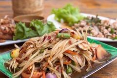 Green Papaya Salad Royalty Free Stock Image