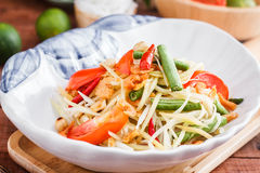 Green Papaya Salad  SOM TAM Stock Photos