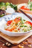 Green Papaya Salad SOM TAM. Thai papaya salad also known as Som Tum from Thailand royalty free stock photos