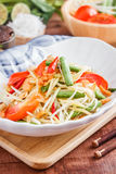 Green Papaya Salad SOM TAM. Thai papaya salad also known as Som Tum from Thailand stock photos