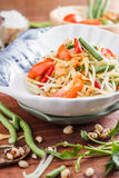 Green Papaya Salad SOM TAM. Thai papaya salad also known as Som Tum from Thailand royalty free stock images