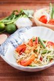 Green Papaya Salad  SOM TAM Royalty Free Stock Images