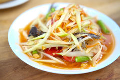 Green papaya salad, Som Tam Thai. Green papaya salad. It call `Som Tam Thai Royalty Free Stock Photography