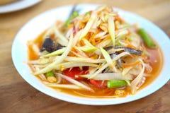 Green papaya salad, Som Tam Thai Royalty Free Stock Photography