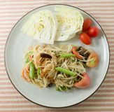 Green Papaya Salad or Som Tum in A Dish Stock Photo