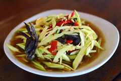 Green papaya salad. Or Som tum is local food Northeast of Thailand royalty free stock images