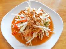 Green Papaya Salad Som Tum. Thai Food royalty free stock image