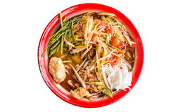 Green Papaya Salad ,Somtum Thai Food. Famous local food of Thailand royalty free stock photography