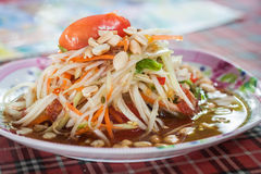Green papaya salad. spicy thai food. Stock Image