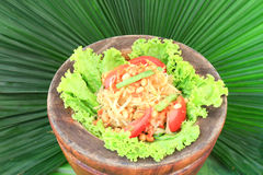 Green papaya salad,Thai cuisine Stock Photography