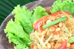 Green papaya salad,Thai cuisine stock photo
