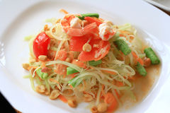 Green papaya salad thai cuisine Royalty Free Stock Image