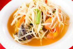 Green papaya salad Stock Image
