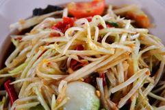Green papaya salad Royalty Free Stock Photography
