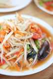 Green papaya salad Thai cuisine spicy delicious. SomTam Royalty Free Stock Photo