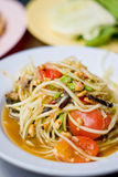 Green papaya salad , Thai  food Royalty Free Stock Photos