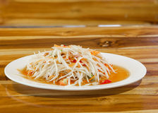 Green papaya salad thai food Stock Image