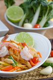 Green papaya salad thai food. Thai cuisine (traditional and modern thai food Stock Photo