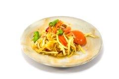 Green papaya salad. Thai food Royalty Free Stock Image