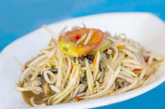 Green papaya salad thai food Royalty Free Stock Image