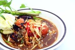Green papaya salad. Thai food green papaya salad (Som Tam Royalty Free Stock Photos