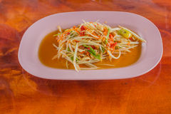 Green papaya salad Royalty Free Stock Image