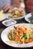 Green papaya salad. Thai salad or `Som tam` is a typical Thai dish Stock Image