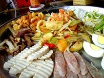 Green papaya salad Stock Images