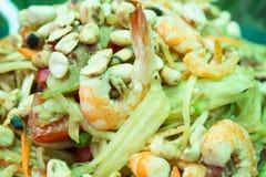 Green papaya salad Royalty Free Stock Images