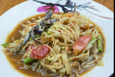 Green papaya salad. Thailand national dish salad Stock Image