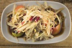 Green papaya salad Stock Photos