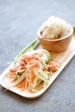 Green Papaya Salad (Som tum Thai) Stock Image