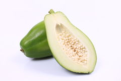 Green papaya Stock Images