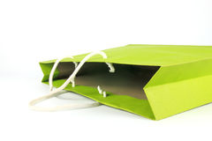 Green paper bag Stock Photography