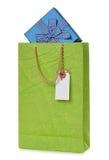 Green paper bag and box Stock Image