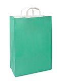 Green paper bag. Royalty Free Stock Photos