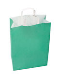 Green paper bag. Royalty Free Stock Image