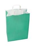 Green paper bag. Royalty Free Stock Image