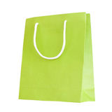 Green paper bag Stock Image