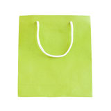 Green paper bag Royalty Free Stock Photography