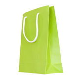 Green paper bag Stock Images