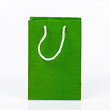 Green paper bag. On white background Royalty Free Stock Image