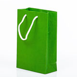 Green paper bag. On white background Royalty Free Stock Photos