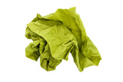 Green paper ball Royalty Free Stock Photos