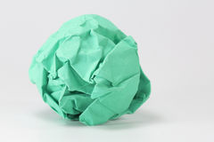 Green paper balls on gray background Royalty Free Stock Images