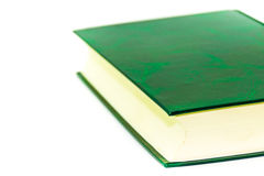 Green paper book isolated on white background Stock Photo