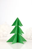 Green paper christmas tree Stock Image