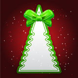 Green Paper Christmas tree with bow. Creative Christmas tree. Vector illustration stock illustration