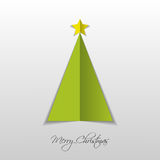 Green paper Christmas tree. Vector. Illustration Royalty Free Stock Images