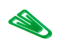 Green paper clip Stock Photography